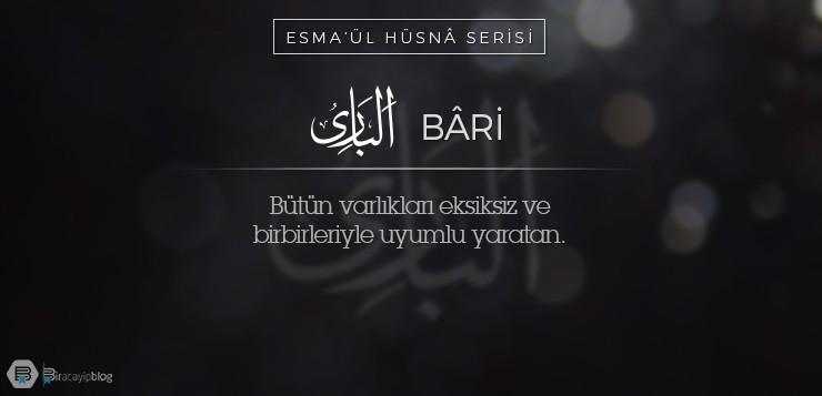 Esma'ül Hüsnâ Serisi #13: Bâri - 13Bari - Esma'ül Hüsnâ Serisi #13: Bâri