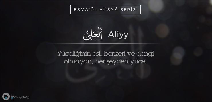 Esma'ül Hüsnâ Serisi #37: Aliyy - 37Aliyy - Esma'ül Hüsnâ Serisi #37: Aliyy